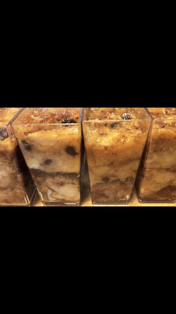Butter Rum Bread Pudding Dessert Shooter