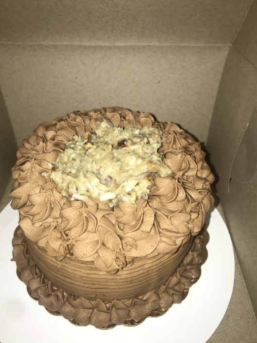German Chocolate Small Cake