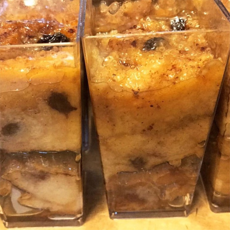 Butter Rum Bread Pudding Shooters