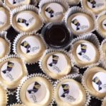 Mini Cheesecakes with edible Personalized Toppers for The Krewe of Nefertiti
