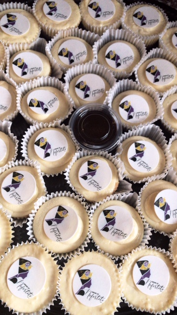 "Mini Personalized Cheesecakes for ""The Krewe of Nefertiti"""