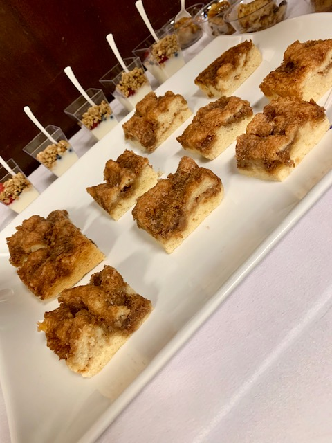 New Orleans Breakfast Brunch Catering Service Delivery Coffee Cake