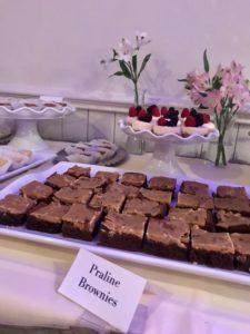 Wedding Dessert Table by KD's NOLA Treats features Praline Brownie Bars
