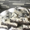 white chocolate OREO cookie brownie