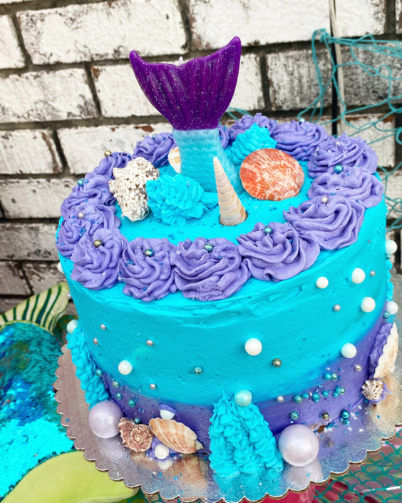 "KD's NOLA Treats ""Under The Sea"" Buttercream Cake"