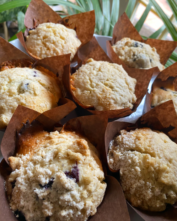 New Orleans Caterer Breakfast Brunch Pastries:Blueberry Muffins