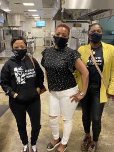 Kim Dejan, Monique Armond, and Sinnidra Taylor