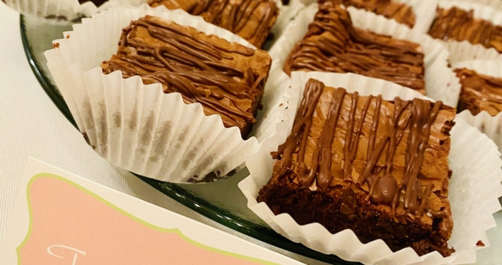 Fudge Brownies - New Orleans Dessert Caterer Wedding Party Events Chocolate Food Delivery shipping